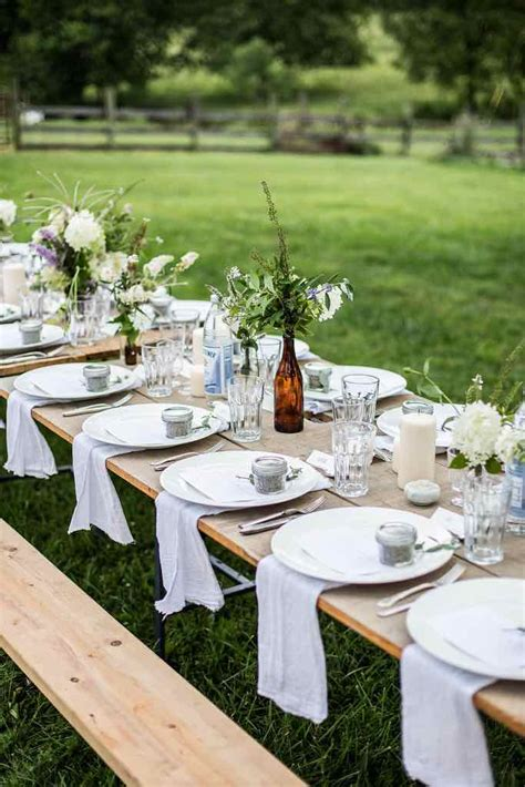 outdoor table setting top 20 rustic outdoor table settings the bohemian wedding