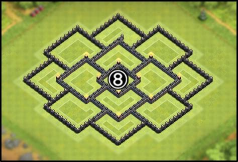 layout coc th8 youtube kids clash of clans town hall 8 coc th8 base