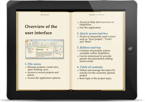 ebook format mobi ipad helpndoc s feature tour create epub ebooks for the ipad