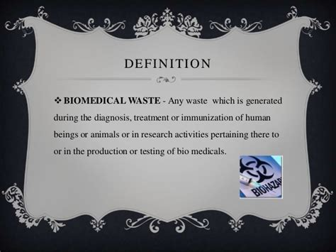 Mba Ms Meaning by Disposal Of Sharp Wastes Bio Waste Management