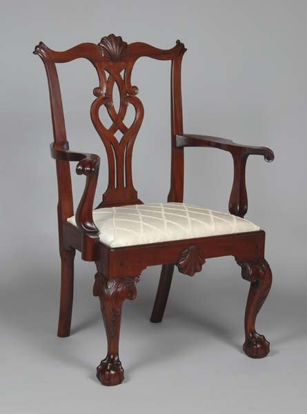 chippendale armchair philadelphia chippendale arm chair