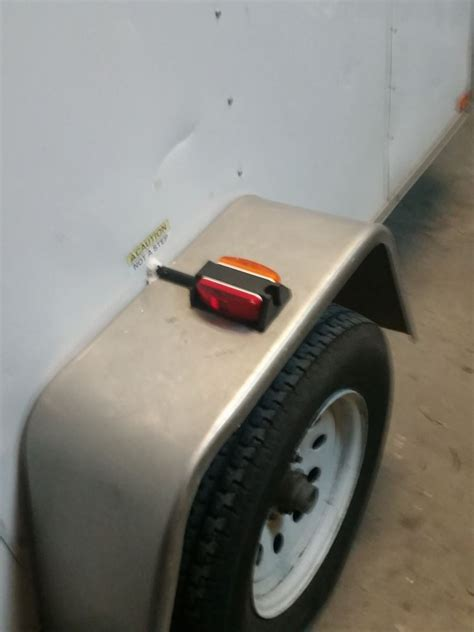 trailer fender clearance lights left fender clearance trailer light prewired amber and