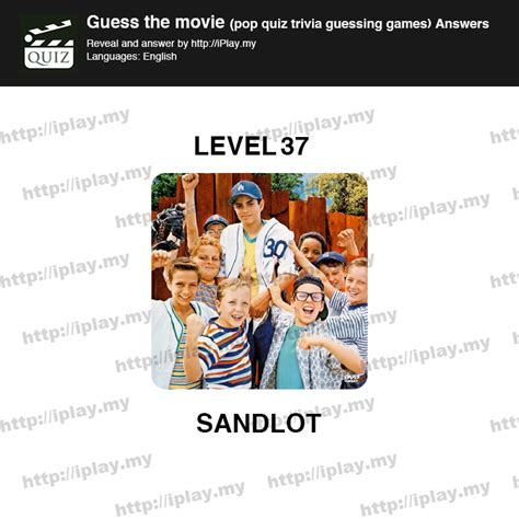 Film Quiz Level 37 | guess the movie pop quiz answers iplay my