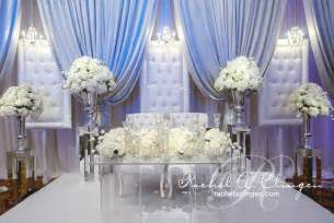 glam and white wedding stage say yes to the dress