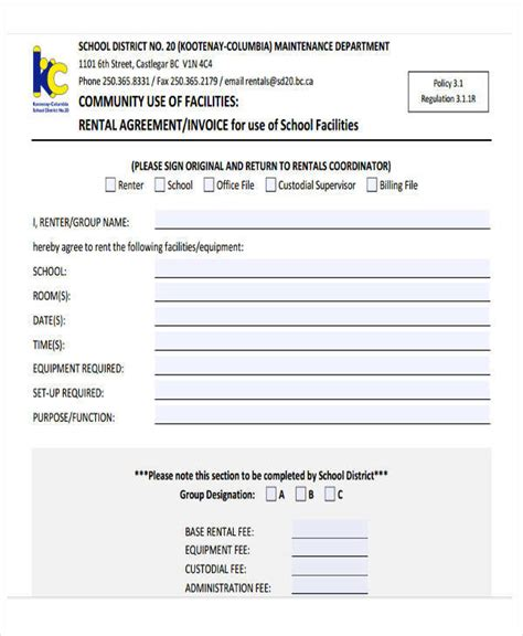 Equipment Rental Receipt Template by 40 Invoice Templates Sle Templates