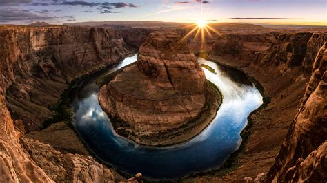 wallpaper horseshoe bend arizona usa  nature