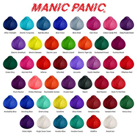 manic panic hair colors manic panic high voltage classic semi permanent hair dye