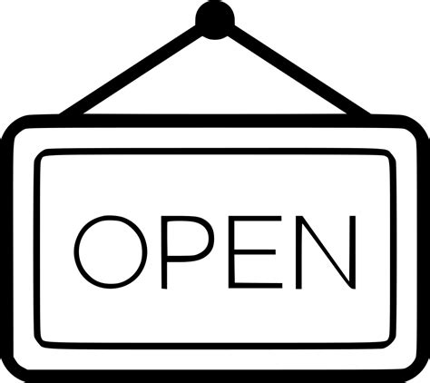 signboard open svg png icon