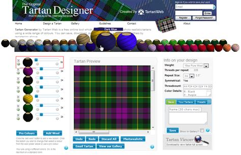 Design Pattern Name Generator | web design experiments tartan pattern online generators