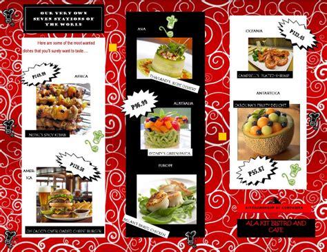 contoh desain brosur unik 13 contoh desain brosur makanan menarik simple elegan