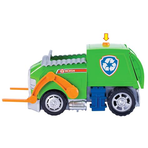 what of is rocky from paw patrol spin master paw patrol rocky s lights and sounds recycling truck