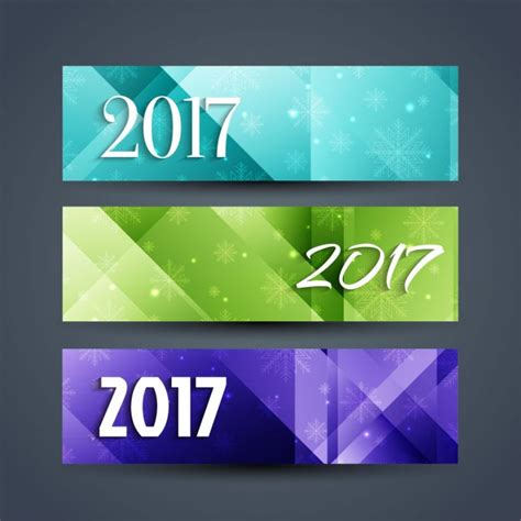 new year banner free abstract new year 2017 banners vector free