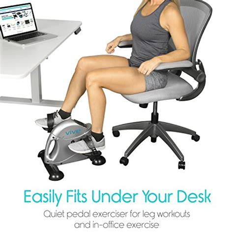 under desk exercise peddler pedal exerciser by vive portable medical exercise