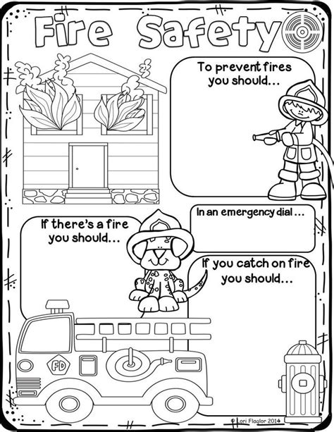 poster design worksheet fire safety fire safety safety and community helpers