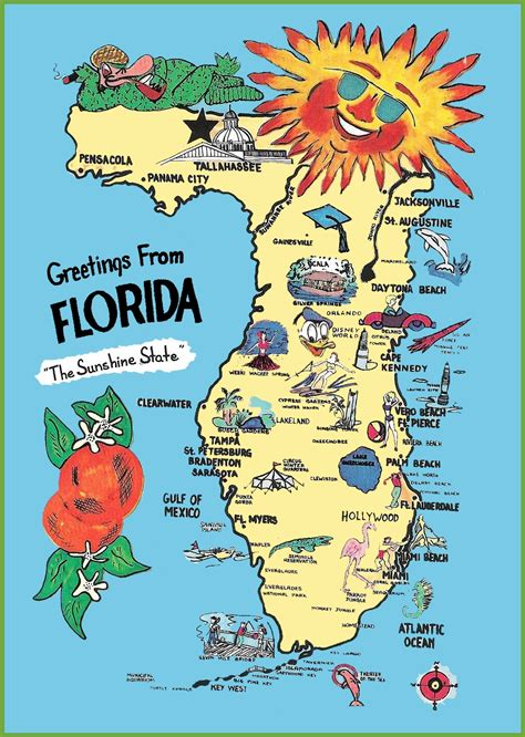 Florida Home Plans by Maps Update 11521621 Travel Map Of Florida Pictorial