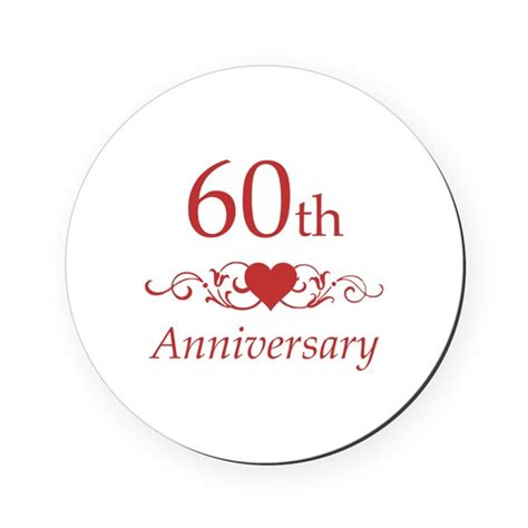 60th anniversary color 60th wedding anniversary cork coaster by pixelstreetann