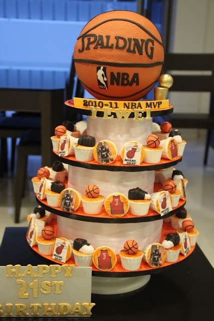 Basketball Themed Birthday Decorations by 3 Tier Basketball Cake Nba Cakes