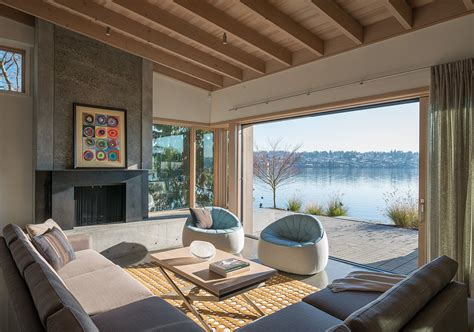 modern lake house interior design modern house