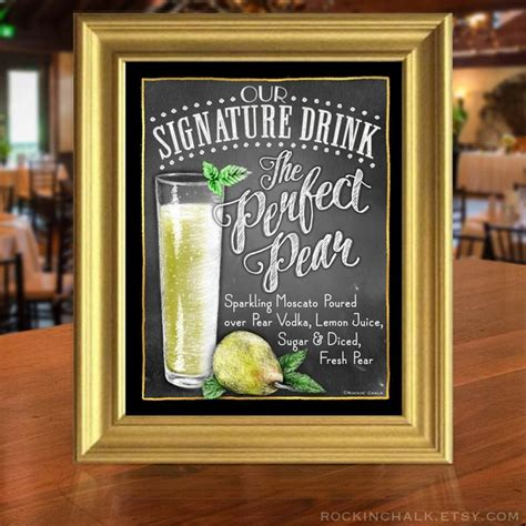 decor chalkboard style signature drink signs 2456796