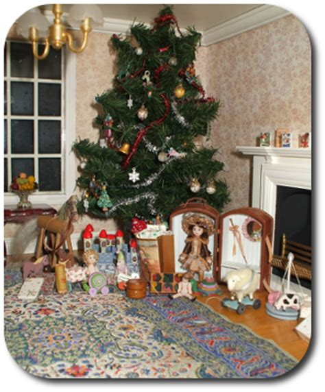 dollhouse decorated for christmas cdhm the miniature way imag featured dollhouse december