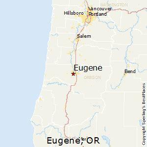 eugene oregon map best places to live in eugene oregon
