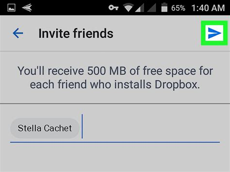 dropbox android how to invite someone to dropbox on android 7 steps