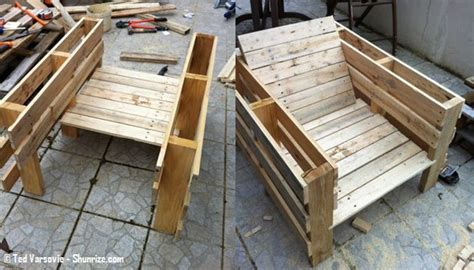 canapé avec palette bois bricolage creer du mobilier de jardin avec des palettes