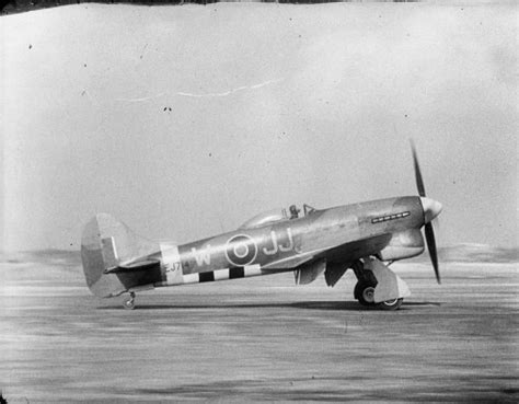 tempest squadrons of the hawker tempest mark v ej714 jj w of no 274 squadron raf begins it take off run at b80