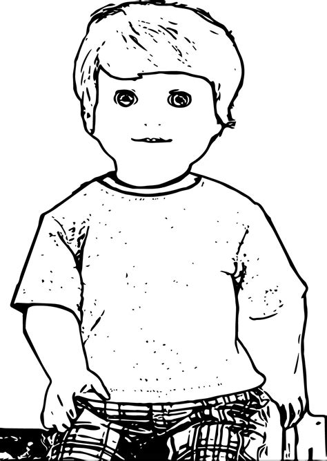 boy doll coloring page american girl boy doll alden coloring page wecoloringpage