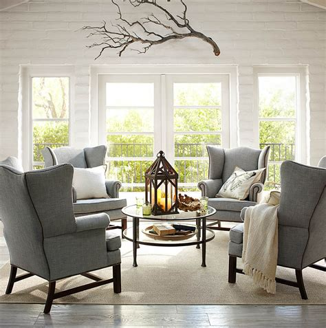 pottery barn living room chairs say hello to pottery barn s performance fabric collection