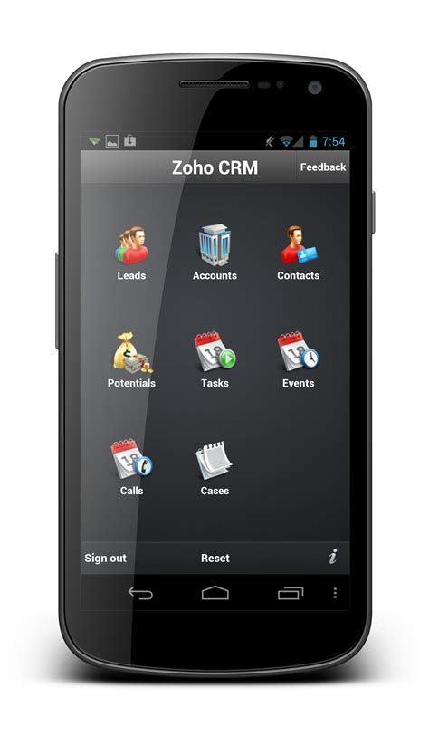 mobile app android introducing mobile apps for crm projects docs 171 zoho