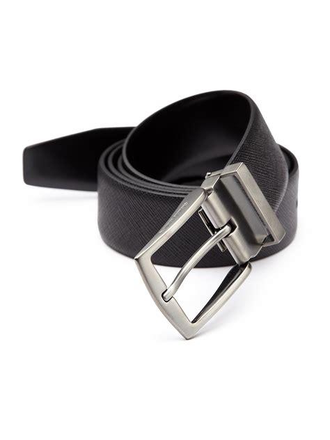 Giorgio Armani Belt Ax006 giorgio armani textured leather belt in black for lyst