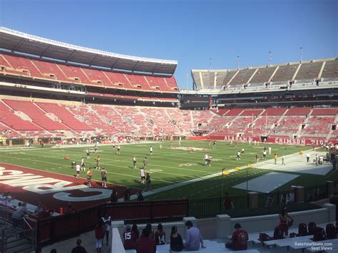 bryant denny stadium student section bryant denny stadium section aa rateyourseats com