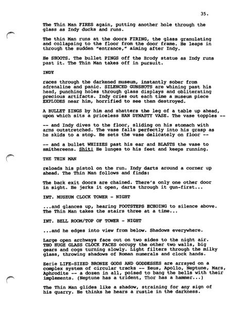 Missing Man Table Script Indiana Jones And The City Of The Gods Frank Darabont Script