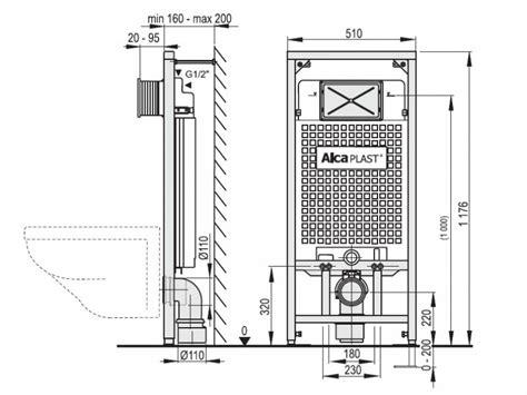 Bidet Wc Abstand by Wc Vorwandelement Trockenbau Installation 850 1000 1200