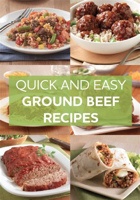 ground beef recipes food pinterest