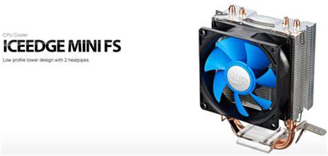 Deepcool Edge Mini Fs deepcool edge mini fs universal 2 heatpipes 95w cpu cooler asianic distributors inc