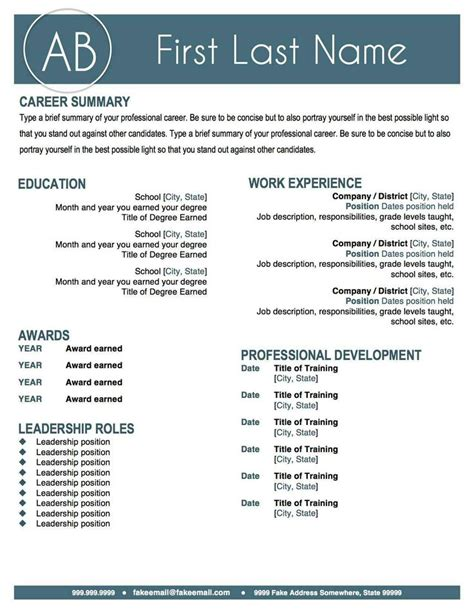 Stand Out Resume Templates by Standout Resume Templates 28 Images Resume Templates