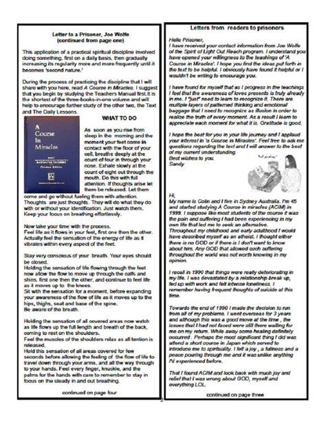 Gift Subscription Letter Letter To A Prisoner Newsletter