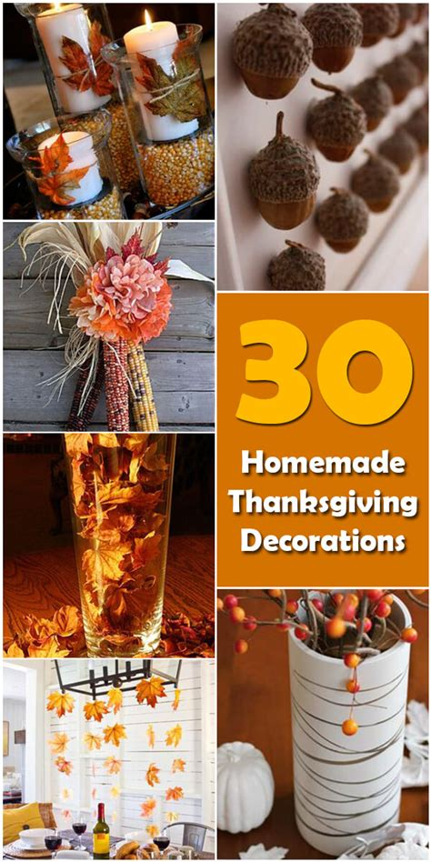 homemade thanksgiving decorations for the home 30 homemade diy thanksgiving decorations holiday vault