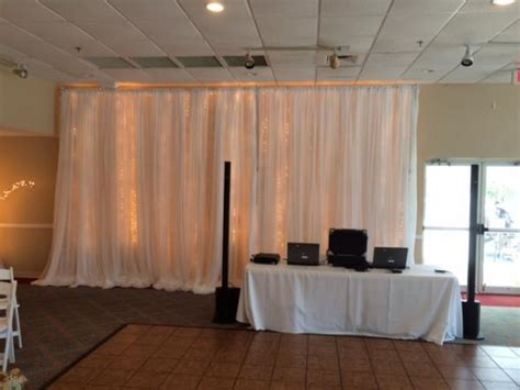 wall draping fabric pipe and draping wedding wall draping cafe lighting