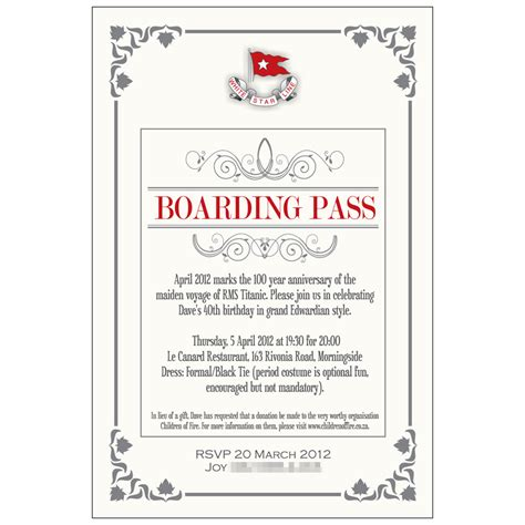 printable titanic boarding pass template invitations kangaroo digital