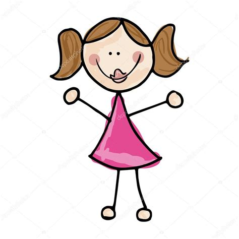 imagenes animadas de una niña caricatura sonriente ni 241 a vector de stock 169 yupiramos
