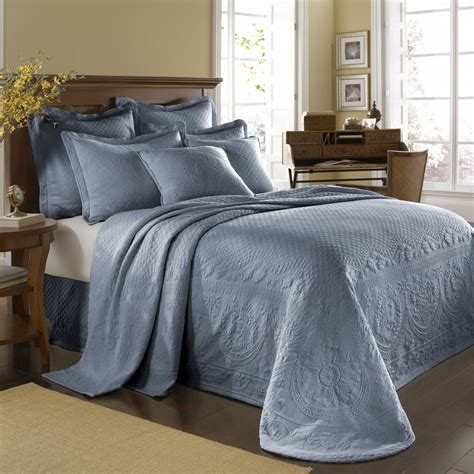 Blue Coverlets For Beds Powder Blue King Charles Bedspread And Coverlet Bedding
