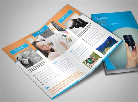 product brochure templates photography product service rates bi fold brochure template