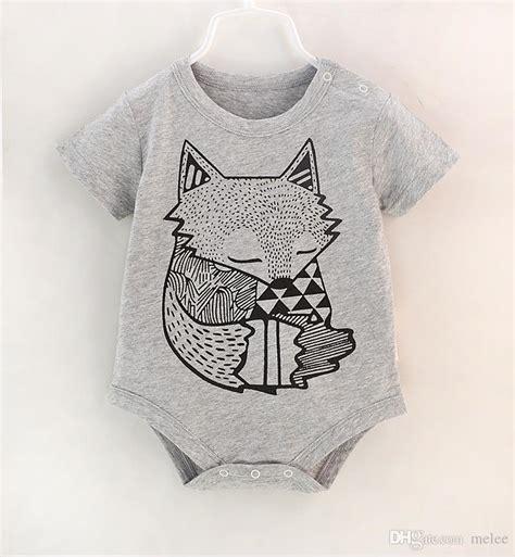 Kazel Bodysuit Boy Fox Edition 2017 2016 infant rompers boys sleeve bodysuit summer fox cat animal
