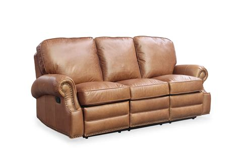 Barcalounger Longhorn Ii Chaps Saddle Top Grain Leather Barcalounger Reclining Sofa