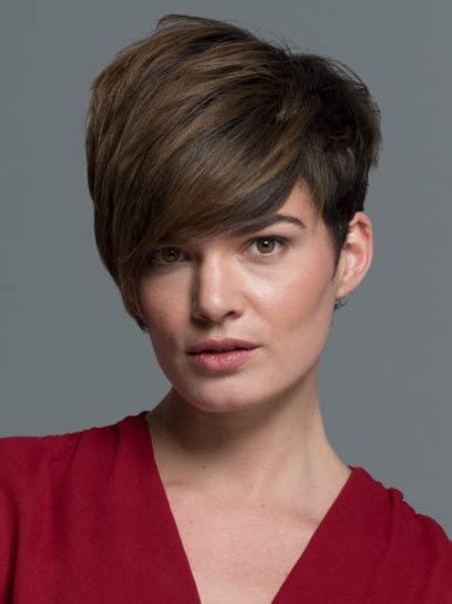 disconnected haircuts women short angled pixie with long bangs haircut women s hairstyles