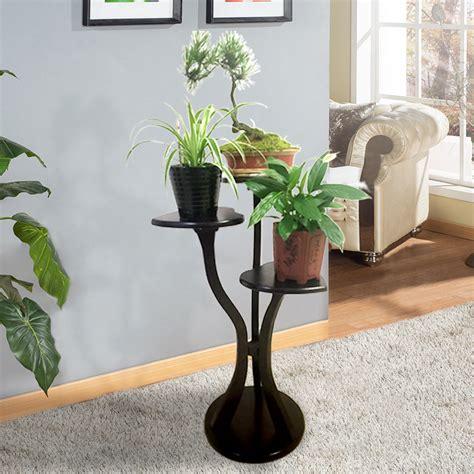Living Room Flower Pot Solid Wood Living Room Flower Pot Rack Indoor Simple