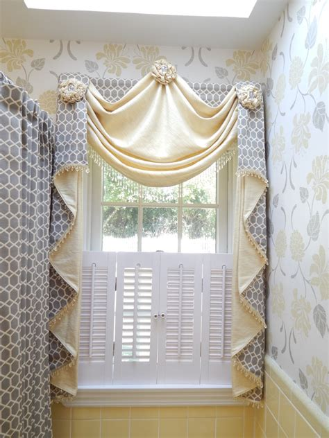 Window Treatments For Bathroom Bathroom Traditional With Bathroom Shower Window Curtains